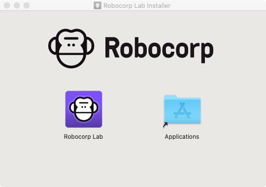 Robocorp Lab dragging to application folder